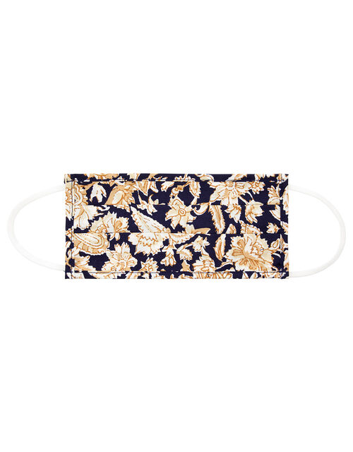 Floral Face Covering in Pure Cotton, , large