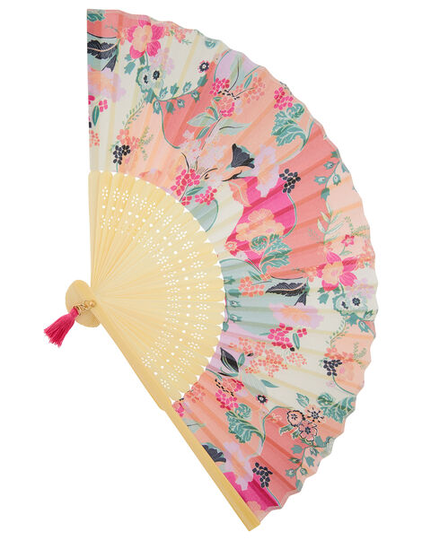 Floral Fan with Tassel Charm, , large