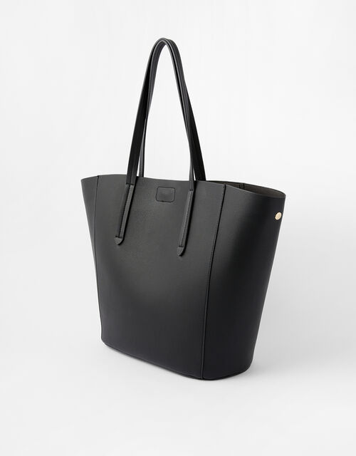 Kayla Curve Tote Bag, Black (BLACK), large