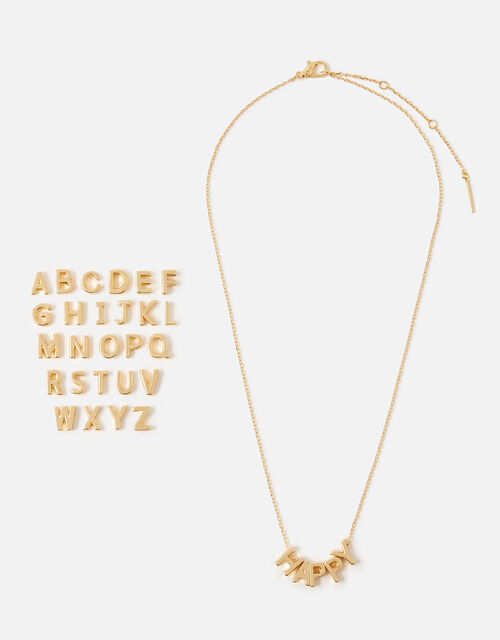 Make-Your-Own Letter Necklace, Gold (GOLD), large