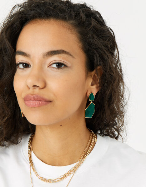 Reconnected Statement Stone Drop Earrings , , large