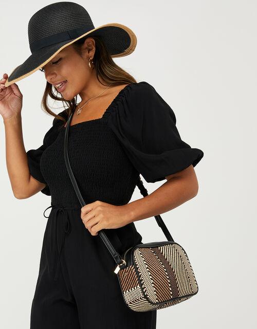 Weave Textile Camera Bag, Multi (DARKS-MULTI), large