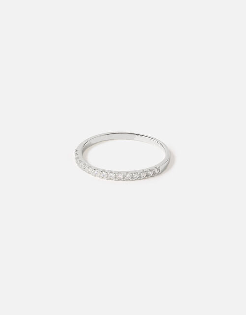 Sterling Silver Crystal Eternity Band, White (ST CRYSTAL), large