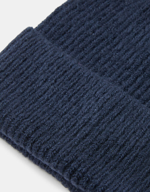Knit Beanie Hat, Blue (NAVY), large