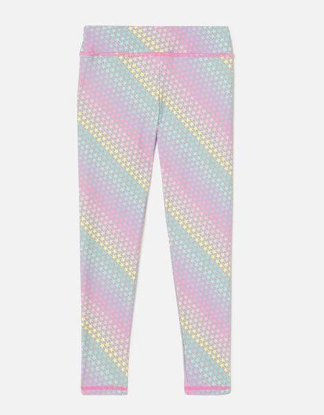 Girls Rainbow Star Leggings Multi, Multi (BRIGHTS-MULTI), large