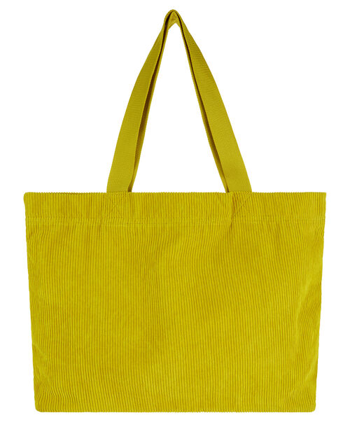 Cord Shopper Bag, Green (LIME), large