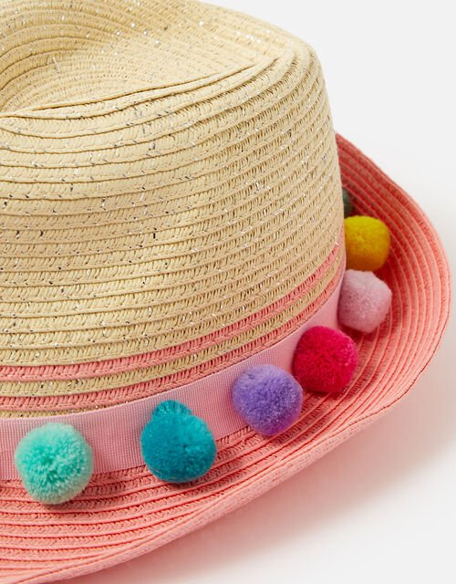 Pom-Pom Hat, Multi (BRIGHTS-MULTI), large