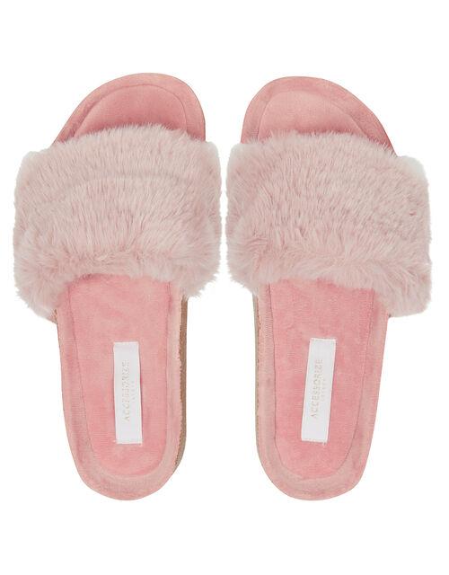 Faux Fur Sliders, Pink (PINK), large