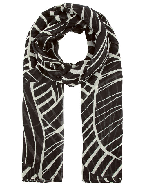 Linear Abstract Print Scarf, , large