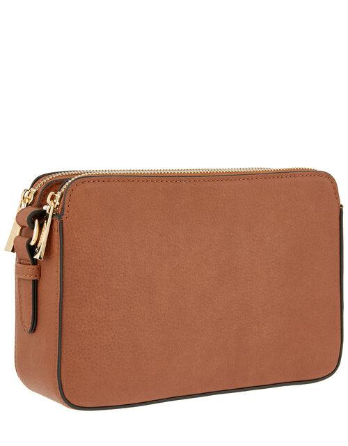 Charlotte Cross-Body Bag, Tan (TAN), large