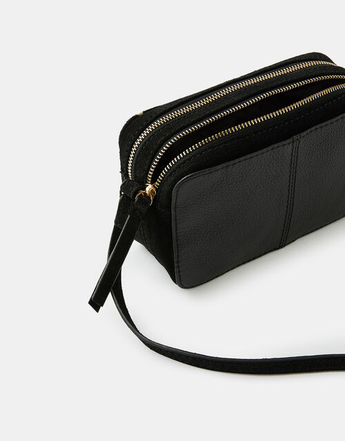 Macy Suede and Leather Cross-Body Bag, , large
