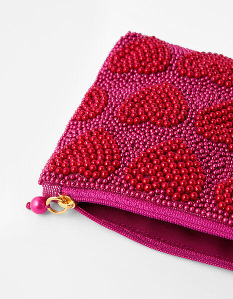 Harrie Beaded Pouch, , large