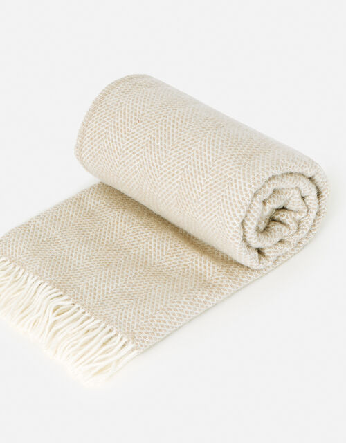 Tassel Throw in Pure Wool, , large