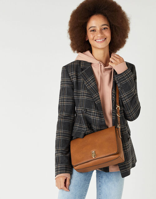 Ava Shoulder Bag, Tan (TAN), large