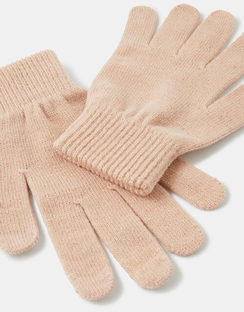 Shimmer Knit Touchscreen Gloves, Pink (PINK), large