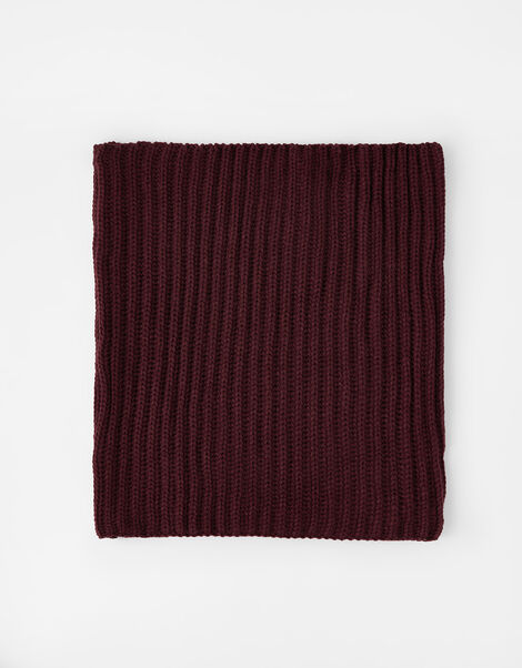 Chunky Knit Snood  Red, Red (BURGUNDY), large