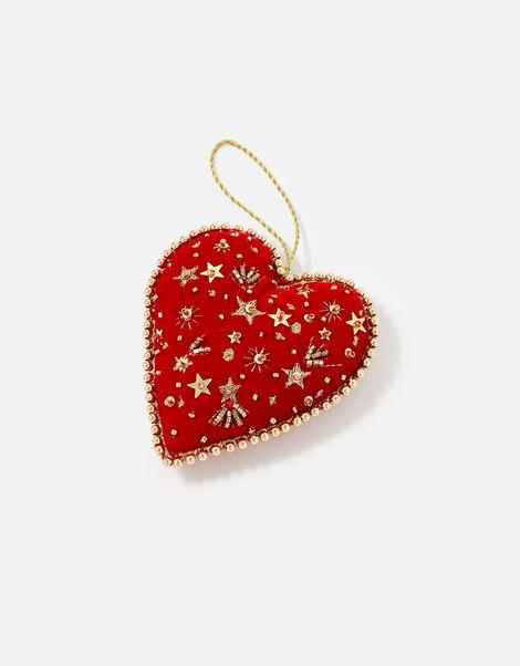 Embellished Love Heart Hanging Decoration, , large