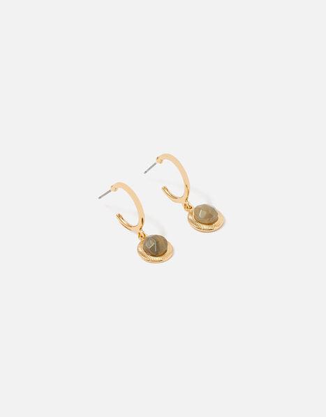 Berry Blush Hoop Stone Drop Earrings, , large