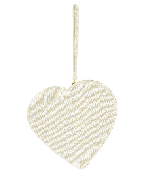 Pearly Bead Heart Bag, , large