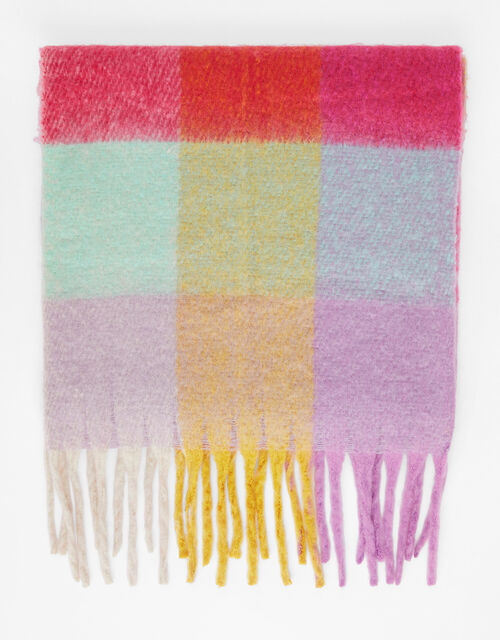 Super-Fluffy Colour-Block Scarf, , large