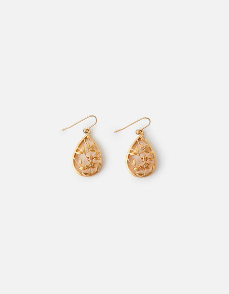 Leaf Teardrop Earrings, , large