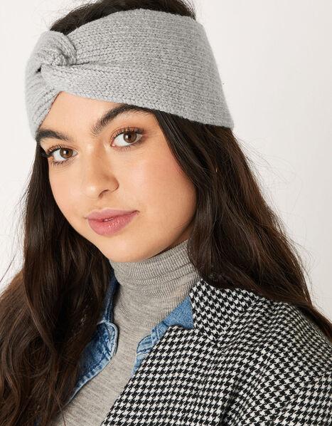 Knit Bando Headband Grey, Grey (LIGHT GREY), large