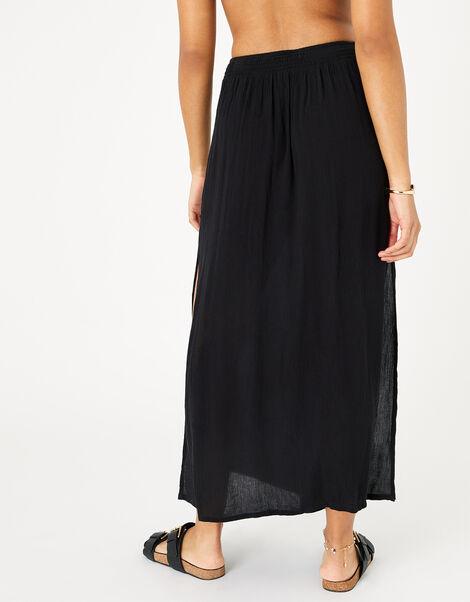 Button Skirt in LENZING™ ECOVERO™  Black, Black (BLACK), large