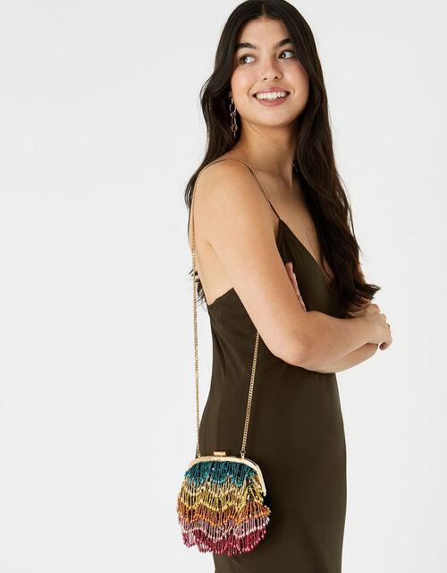 Tiana Tassel Frame Bag, , large