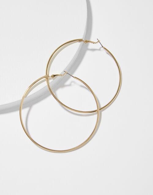 Medium Simple Hoop Earrings, Gold (GOLD), large