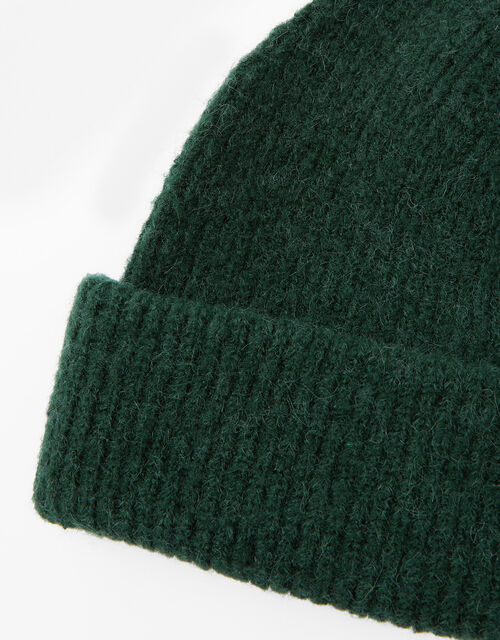 Compton Fluffy Beanie Hat, Green (GREEN), large