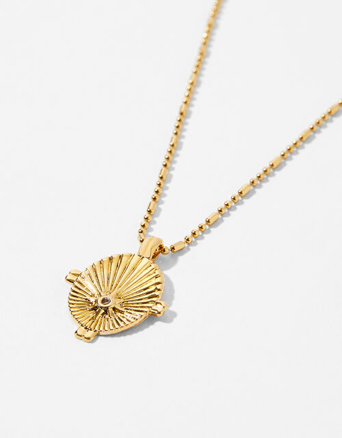 Gold-Plated Star Ray Necklace, , large