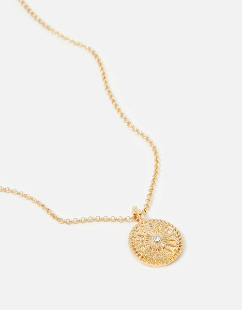 Berry Blush Coin Pendant Necklace, , large
