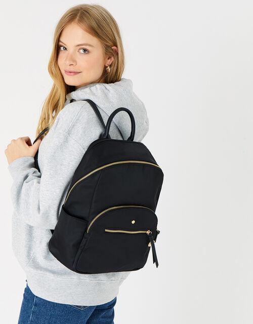 Nell Nylon Backpack, Black (BLACK), large