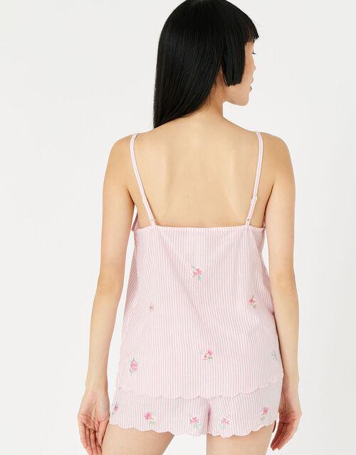 Evelyn Floral Stripe Pyjama Set, Multi (PASTEL-MULTI), large