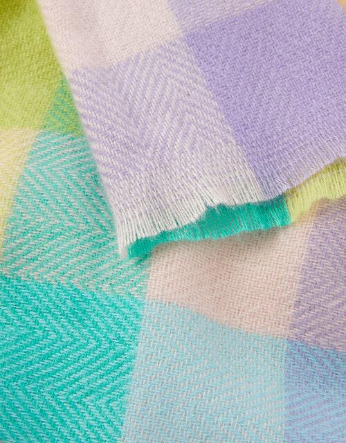 Chrishelle Check Blanket Scarf, , large