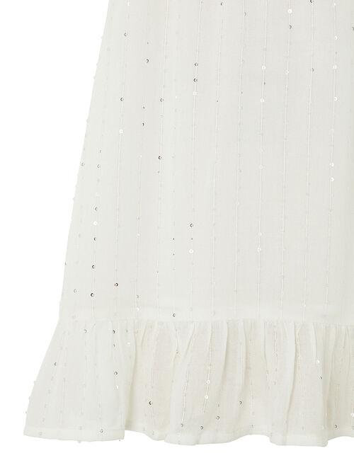 Sequin Dress, White (WHITE), large
