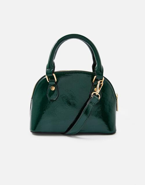 Nikki Patent Handheld Bag , Green (GREEN), large
