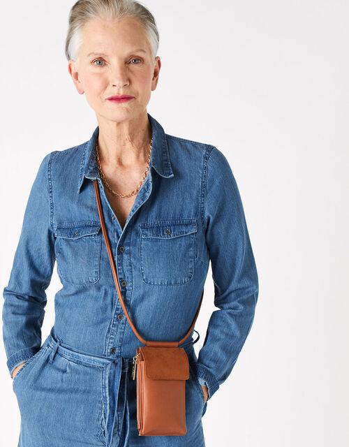 Carrie Utility Phone Bag, Tan (TAN), large