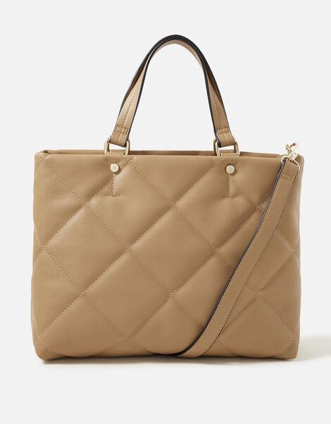 Kayleigh Quilted Handheld Bag  Camel, Camel (CAMEL), large
