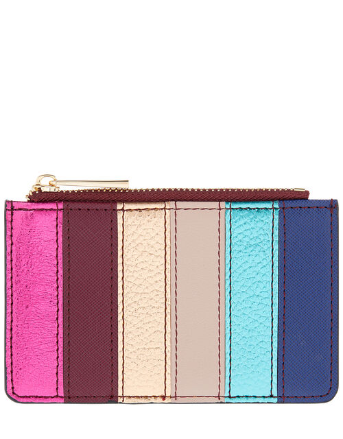 Shoreditch Metallic Rainbow Card Holder, , large