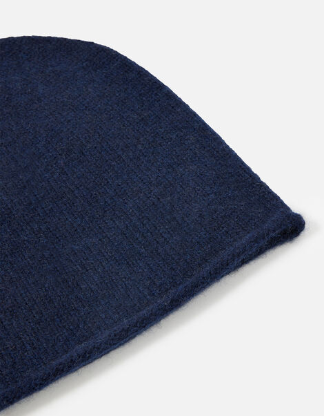 Knit Beanie in Cashmere Blue, Blue (NAVY), large