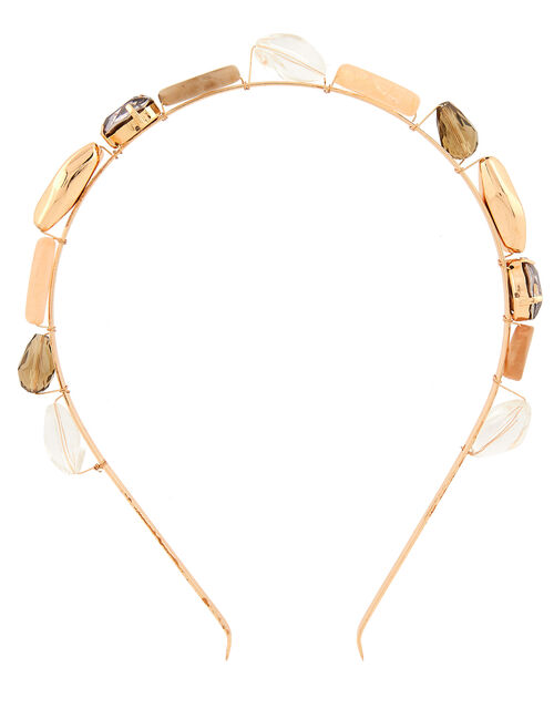 Mixed Gem and Stone Headband, , large