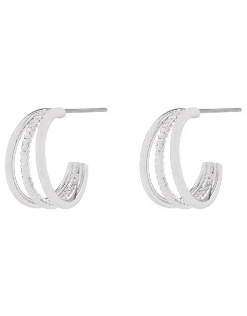 Mini Triple Hoop Earrings, , large