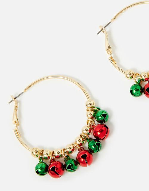 Jingle Bell Hoop Earrings, , large