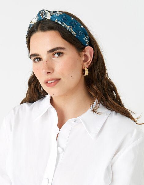 Scarf Print Knot Headband , , large