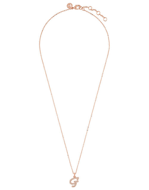 Sparkle Initial Necklace - G, , large