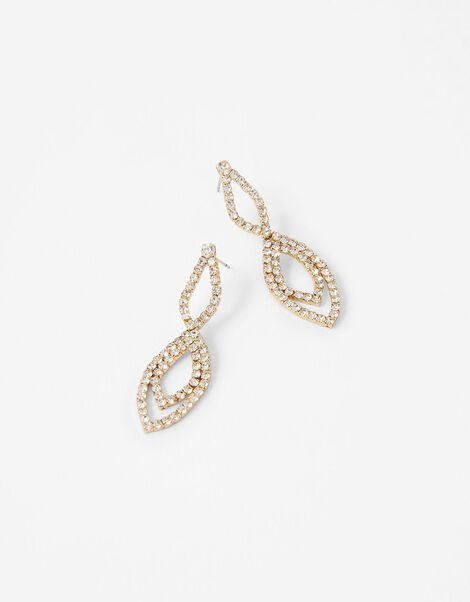 Pave Infinity Short Drop Earrings, , large