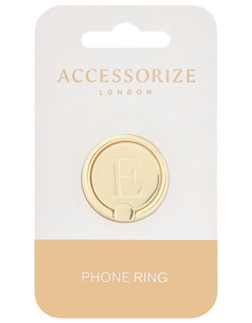 Metallic Initial Phone Ring - E, , large