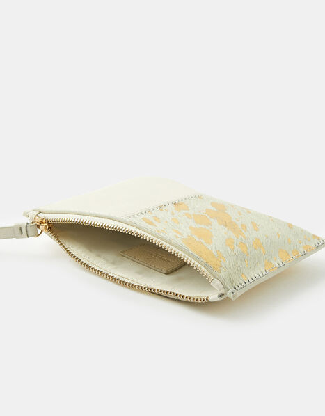 Carmela Leather and Suede Pouch Bag, , large