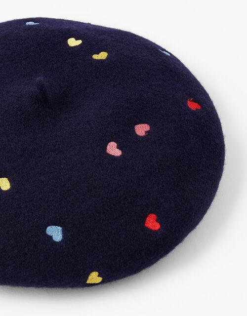 Mini Rainbow Heart Beret, , large